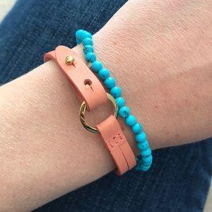 Fossil soft pink wrap bracelet